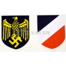 German WW2 Helmet Decal Set-Kriegsmarine, (Navy), Gold