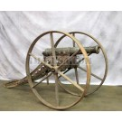 English 1lb Falconet Bronze Cannon & Cast Iron Winter Carriage Marked Liverpool, England