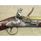 Original British Flintlock Brass Barrel Blunderbuss Marked Tower & Chatham Dock No.4