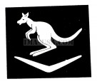 British WWII Unit Helmet Decal: 6th Australian Division