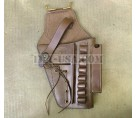 U.S. 1911 .45cal Brown Leather Hip Holster with Laser Sight Option Embossed U.S.M.C