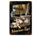 German WW2 Vintage Metal Sign: Panzer Schmeisser Tiger