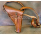 British WWI & WWII Signal Flare Pistol Leather Holster